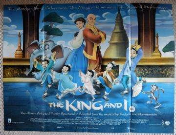 King and I, Original UK Quad Film Poster, Animation '99